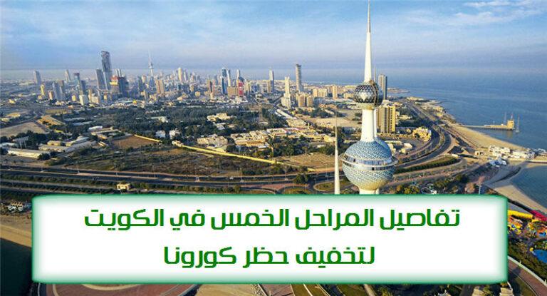 تفاصيل المراحل الخمس في الكويت لتخفيف حظر كورونا