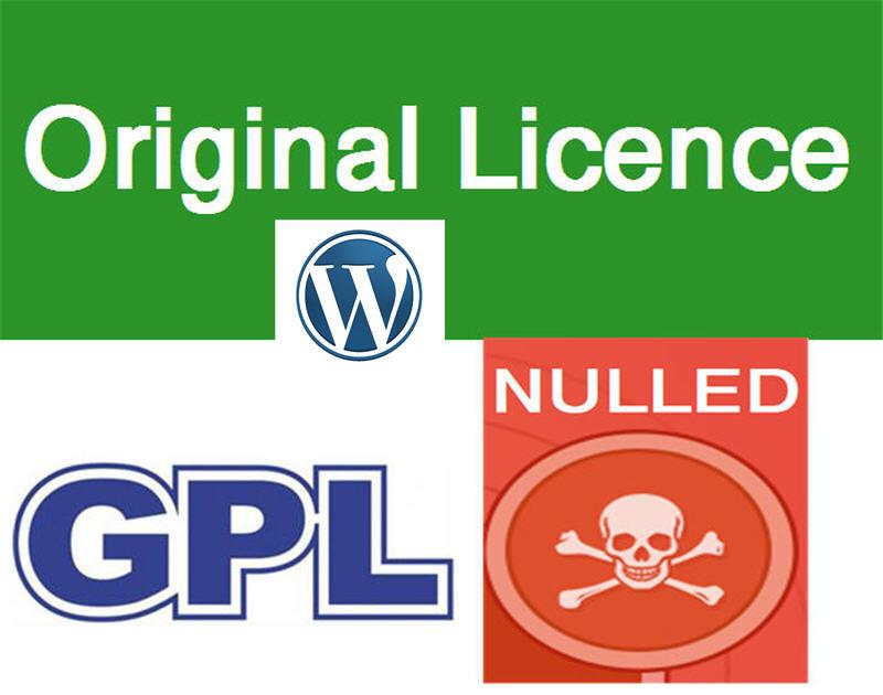 ما هي تراخيص Original و GPL و Nulled لقوالب واضافات ووردبريس ؟